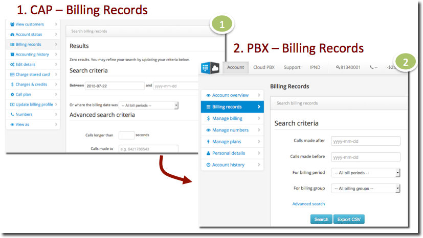 Billing Records (CAP_PBX)
